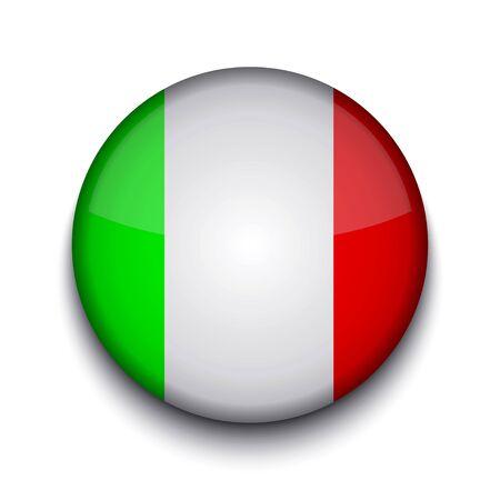 italien flagge: Vector kreativen Kreis Flagge auf wei�em Hintergrund. Eps10