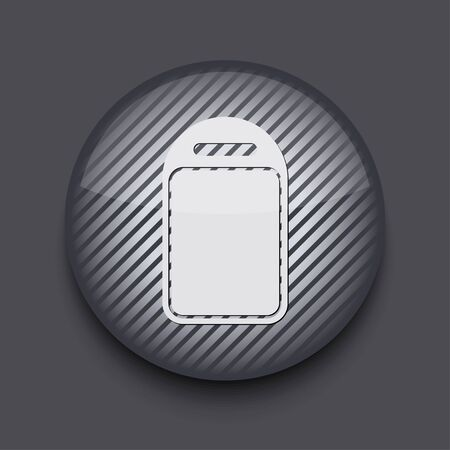 Vector app circle striped icon on gray background. Eps 10 Stock Vector - 16773397