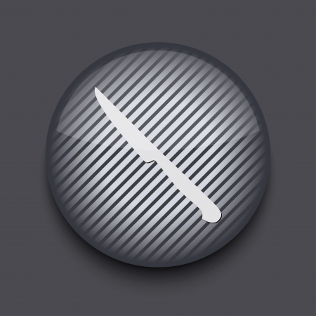 Vector app circle striped icon on gray background. Eps 10 Stock Vector - 16773457