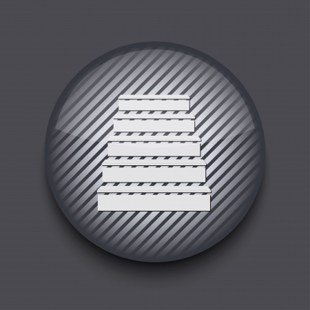 Vector app circle striped icon on gray background. Eps 10 Stock Vector - 16773439