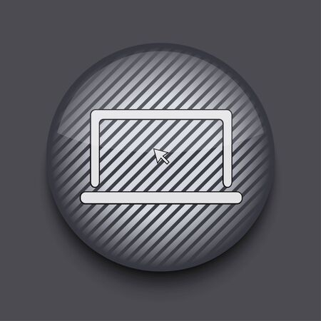 Vector app circle striped icon on gray background. Eps 10 Stock Vector - 16773353