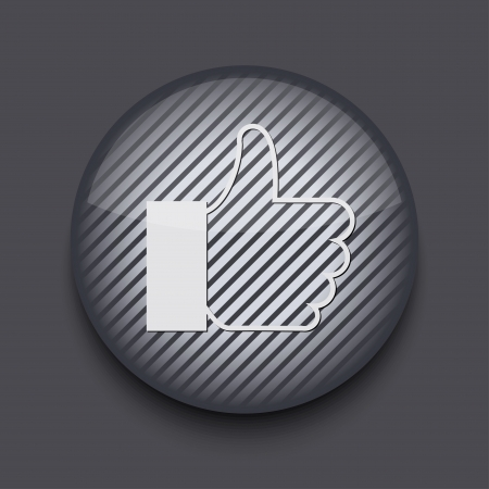 Vector app circle striped icon on gray background. Eps 10 Stock Vector - 16773393