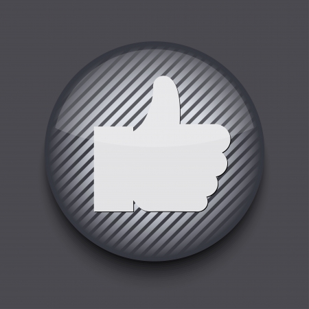 decline in values: Vector app circle striped icon on gray background. Eps 10 Illustration