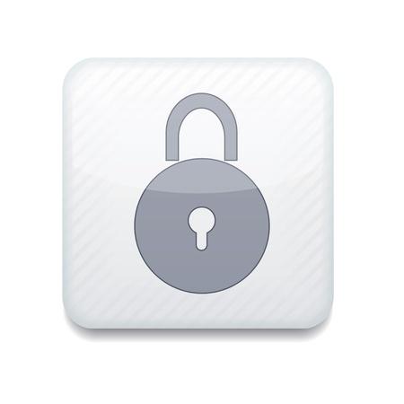 Vector creative white app icon on white background. Eps10 Stock Vector - 16773312