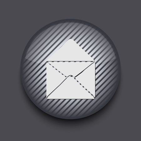 Vector app circle striped icon on gray background. Eps 10 Stock Vector - 16773320