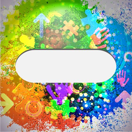 affirmation: Vector icon. Colorful abstract background. Eps10