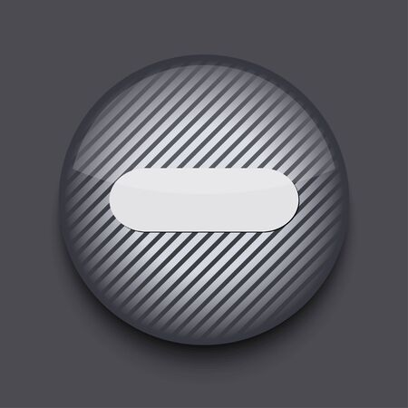Vector app circle striped icon on gray background. Eps 10 Stock Vector - 16773387