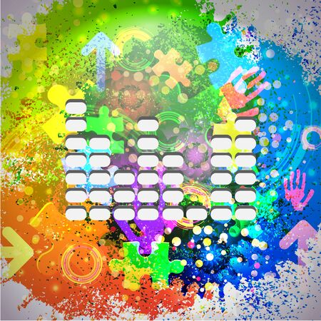 Vector icon. Colorful abstract background. Eps10 Vector