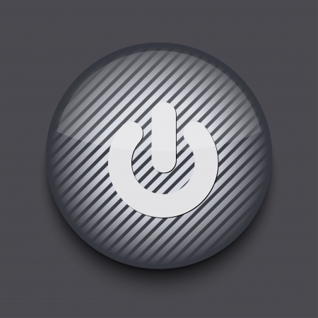 Vector app circle striped icon on gray background. Eps 10 Vector