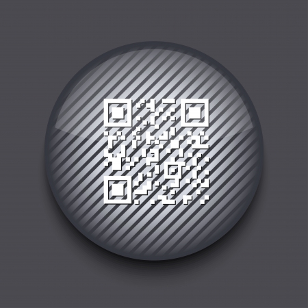 Vector app circle striped icon on gray background. Eps10 Vector