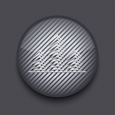Vector app circle striped icon on gray background. Eps 10 Stock Vector - 16773464