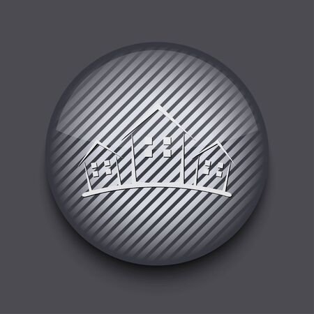 Vector app circle striped icon on gray background. Eps 10 Stock Vector - 16773461