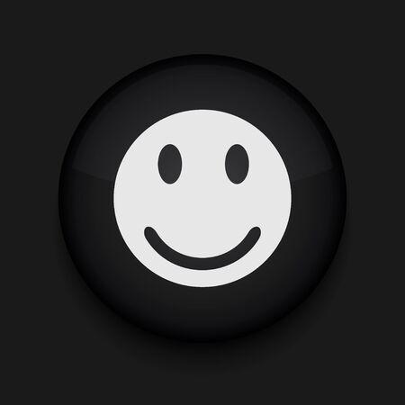 faces happy to sad: Vector smile icon. Eps10. Easy to edit
