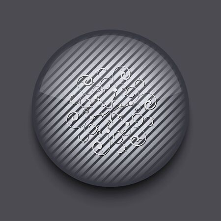 Vector app circle striped icon on gray background. Eps 10 Stock Vector - 16773321
