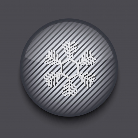 Vector app circle striped icon on gray background. Eps 10 Stock Vector - 16773350