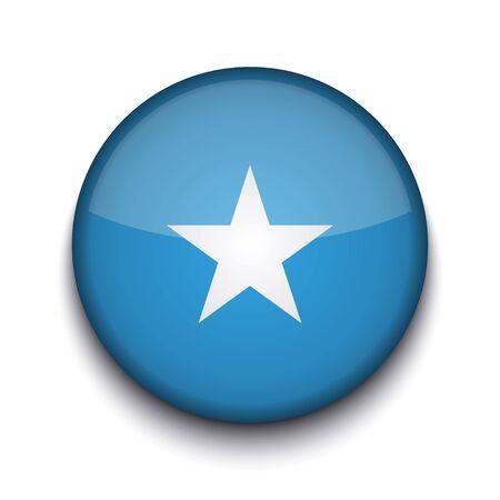somalis: Vector creative circle flag on white background. Eps10