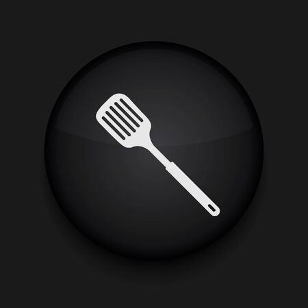slotted: Vector slotted kitchen spoon icon. Eps10. Easy to edit Illustration