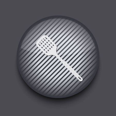 heatproof: Vector app circle striped icon on gray background. Eps 10 Illustration