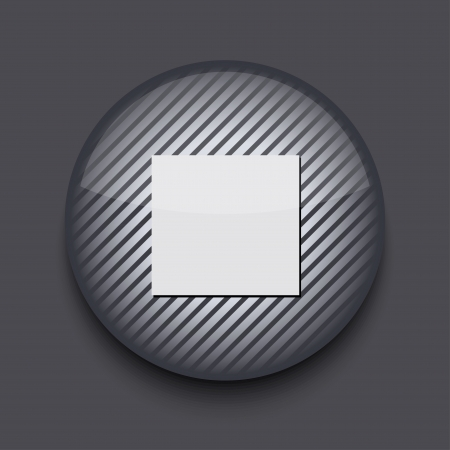 Vector app circle striped icon on gray background. Eps10 Stock Vector - 16773377