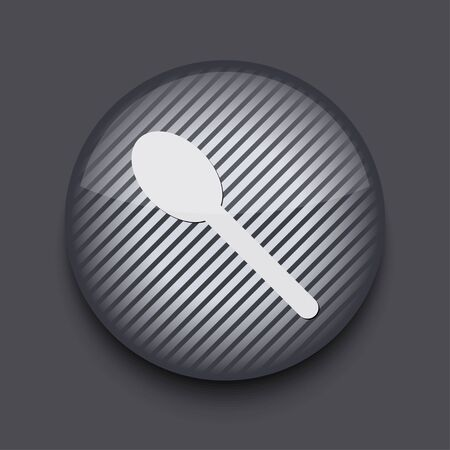 Vector app circle striped icon on gray background. Eps 10 Stock Vector - 16773453