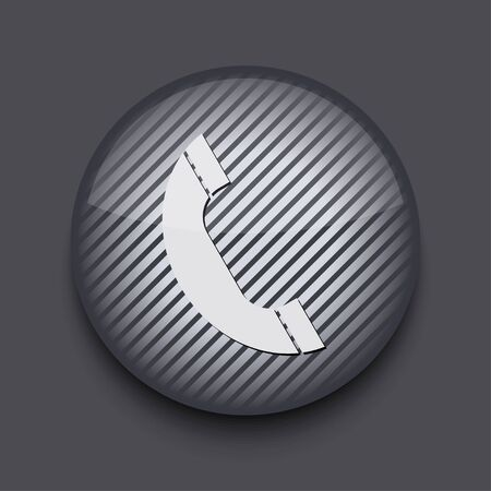 Vector app circle striped icon on gray background. Eps10 Stock Vector - 16773450