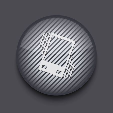 sleepiness: Vector app circle striped icon on gray background. Eps 10 Illustration