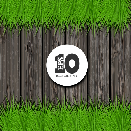 Vector wooden background with place for your text. Eps10  Vector