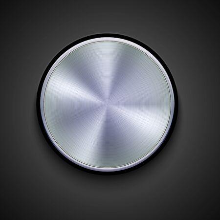 vector metalen pictogram op een grijze achtergrond. Eps10 Stock Illustratie