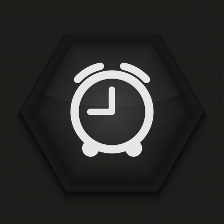 phone the clock: Vector creative icon on black background. Eps10