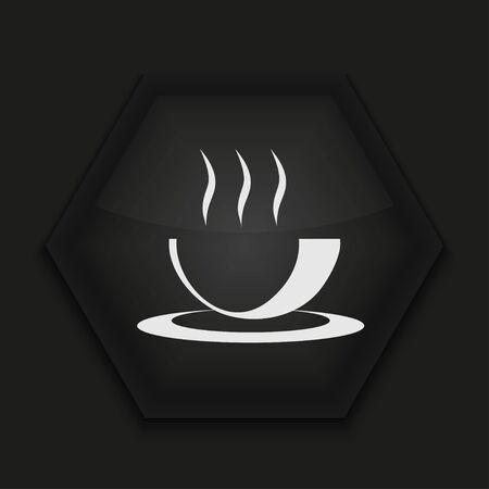 Vector icono creativo sobre fondo negro. Eps10