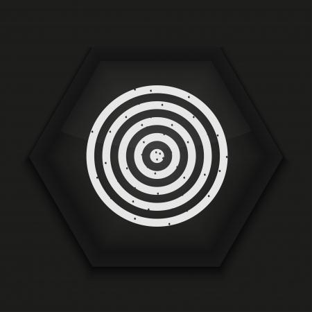 Vector creative icon on black background. Eps10 Stock Vector - 17274597