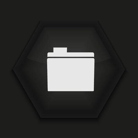 Vector creative icon on black background. Eps10 Stock Vector - 17273842