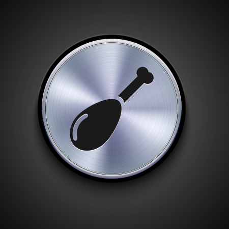 vector metal icon on gray background. Eps10 Vector