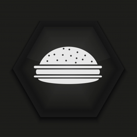 Vector creative icon on black background. Eps10 Vector