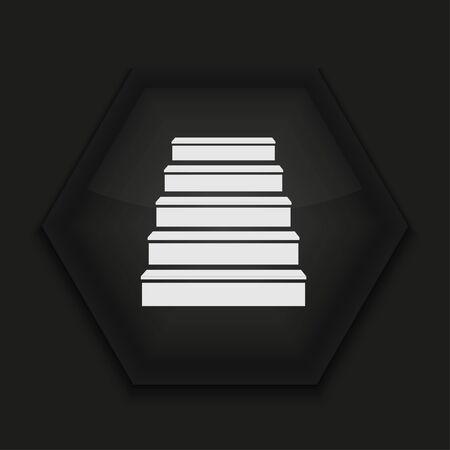 Vector creative icon on black background. Eps10 Stock Vector - 17274420