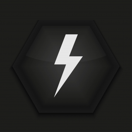 bolts: Vector creative icon on black background. Eps10