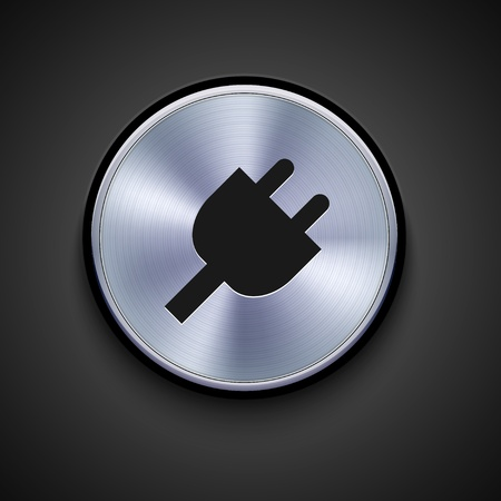 cords: vector metal icon on gray background. Eps10
