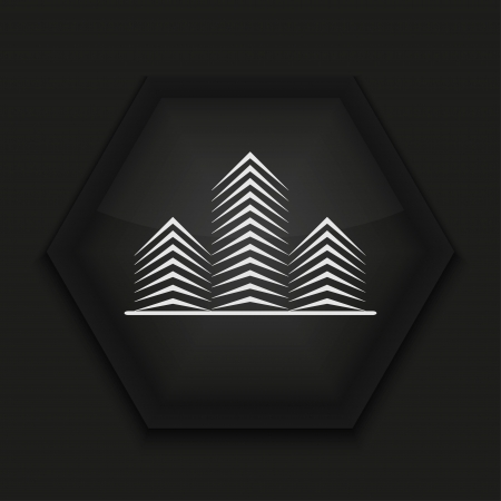 Vector creative icon on black background. Eps10 Stock Vector - 17274585