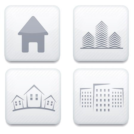 Vector white real estate app icon set. Eps10 Stock Vector - 17275000