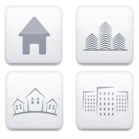 Vector white real estate app icon set. Eps10 Stock Vector - 17275000