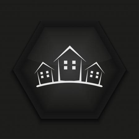 Vector creatieve pictogram op zwarte achtergrond. Eps10