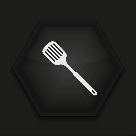 heatproof: Vector creative icon on black background. Eps10