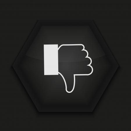 Vector creative icon on black background. Eps10 Stock Vector - 17274430