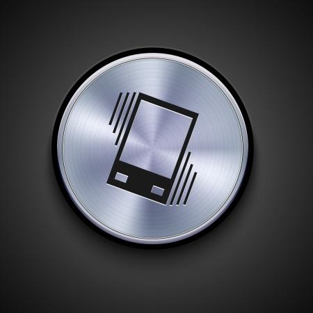 sleepiness: vector metal icon on gray background. Eps10