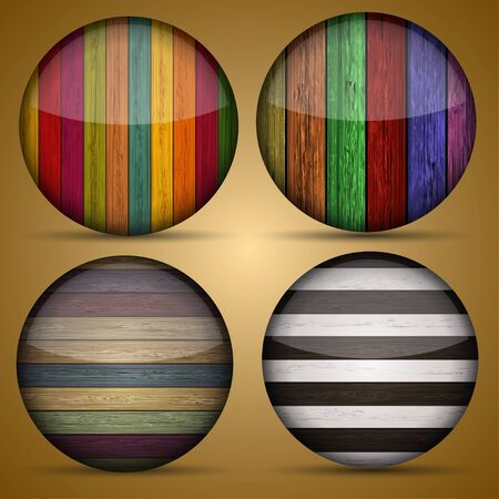 Vector creative circle app set on briwn background. Eps10 Vector