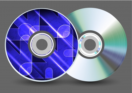 blu ray: Vector disk on gray background. Eps10 Illustration