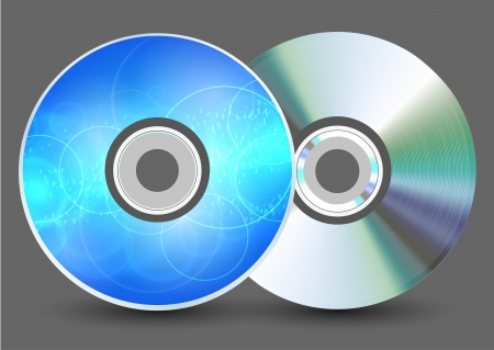 Vector disk on gray background. Eps10 Stock Vector - 17660449
