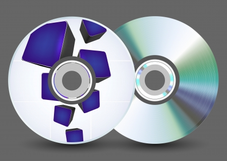 disk on gray background. Stock Vector - 17660379