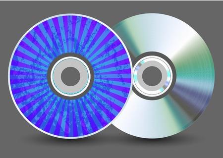 Vector disk on gray background. Eps10 Illustration