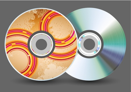 Vector disk on gray background. Eps10 Stock Vector - 17681951